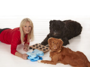Nina Ottosson is a designer of toys for dogs and cats.